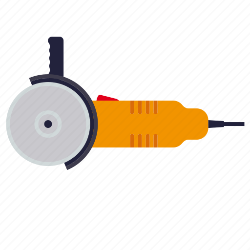 angle, do it yourself, electrical, grinder, tool, workshop icon
