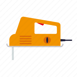 do it yourself, electrical, jigsaw, tool, workshop icon