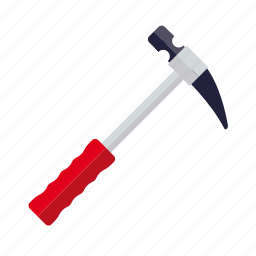 do it yourself, hammer, metal, tool, workshop icon