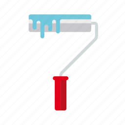 do it yourself, paint, paint roller, painting, tool, workshop icon