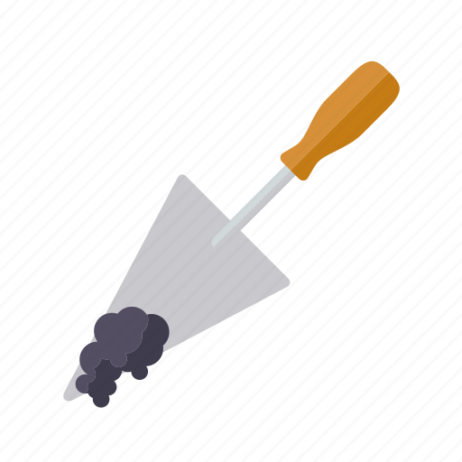craft, do it yourself, masonry, mortar, tool, trowel, workshop icon