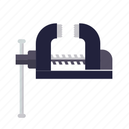 clamp, craft, do it yourself, metal, tool, vice, workshop icon