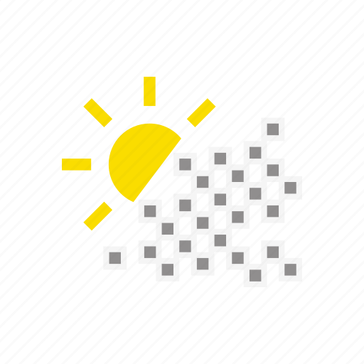 clouds, cloudy, rain, storm, sun, temperature, weather icon