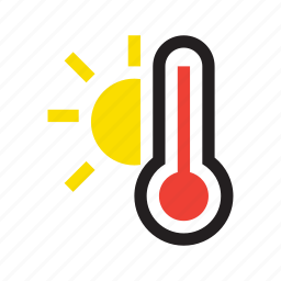 high, high temperature, hot, temperature, thermometer, weather, worm icon