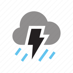 cloud, lightning, night, snow, storm, upload, weather icon