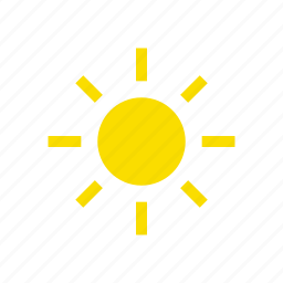 daily, day, news, summer, sun, time, weather icon
