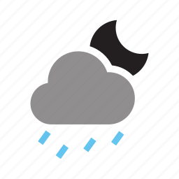 deluge, drizzle, mizzle, rainstorm, thunderstorm, torrent, water icon