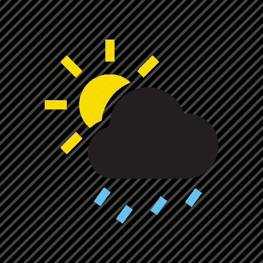 deluge, drizzle, mizzle, precipitation, rain, sprinkle, squall icon