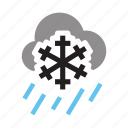 cloud, forecast, rain, snow, storm, upload, weather icon