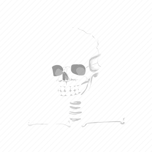 bones, cartoon, comic, death, face, skull, user icon