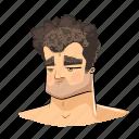 bored, cartoon, comic, face, head, neutral, user icon