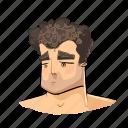 comic, face, man, men, sad, slightly, user icon