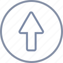arrow, grow, rise, up, upload, upward icon