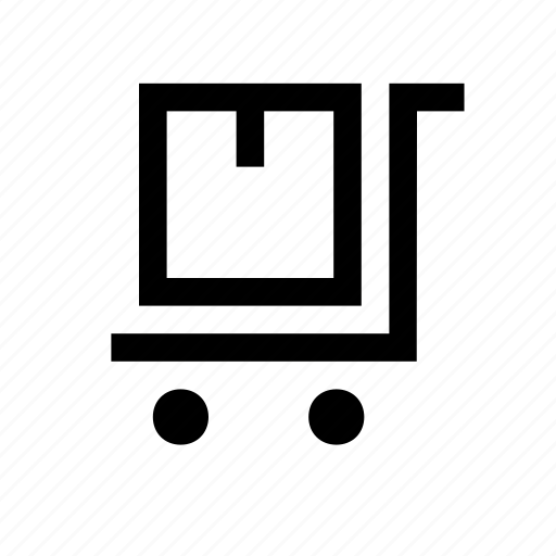 commerce, delivery, package, trolly icon