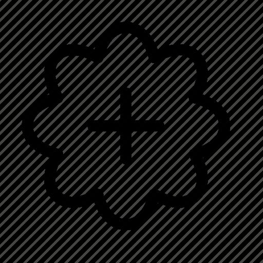 add, badge, plus, sale, savings icon