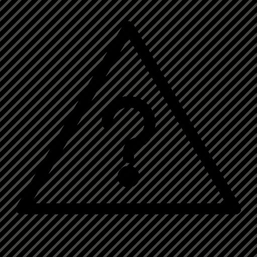 alert, bug, error, notification, question, warning icon
