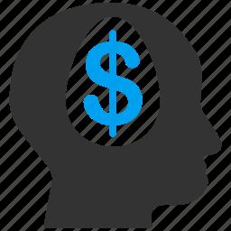 brain, dollar, education, finance, money, science, user icon