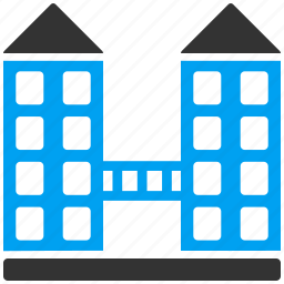 building, buildings, company, home, hotel, house, office icon