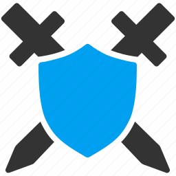 military, password, safe, safety, security, shield, sword icon