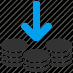 deposit, gain, income, money, payment, percent, profit icon