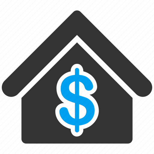 bank, banking, building, financial, home, house, shopping icon