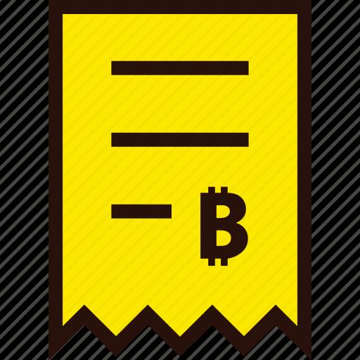 bill, bitcoin, document, ecommerce, invoice, online, voucher icon