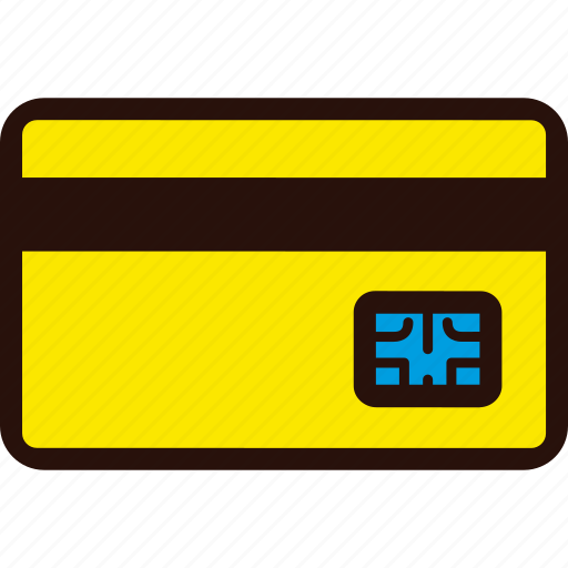 card, chip, credit, payment, plastic, shopping icon