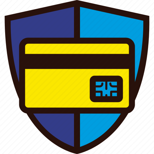 credit card, payment, plastic, protection, secure, shield, shopping icon