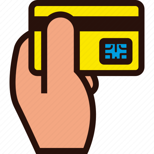 buying, card, credit, hand, plastic icon