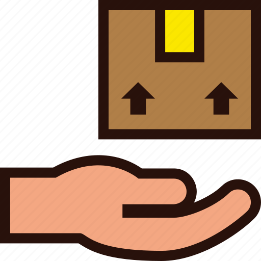 box, delivered, package, parcel, postal icon