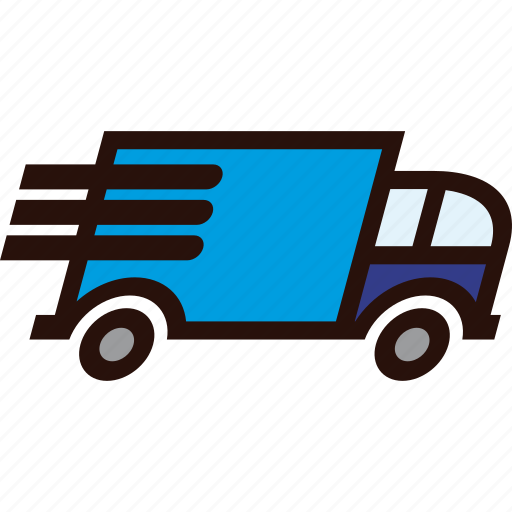 delivery, fast, packages, transport, transportation, truck icon