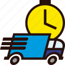 delivery, fast, packages, schedule, time, transport, truck