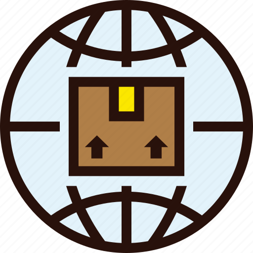 box, delivery, global, international, package, parcel, shipping icon