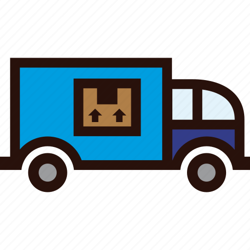 boxes, delivery, normal, packages, transport, truck icon