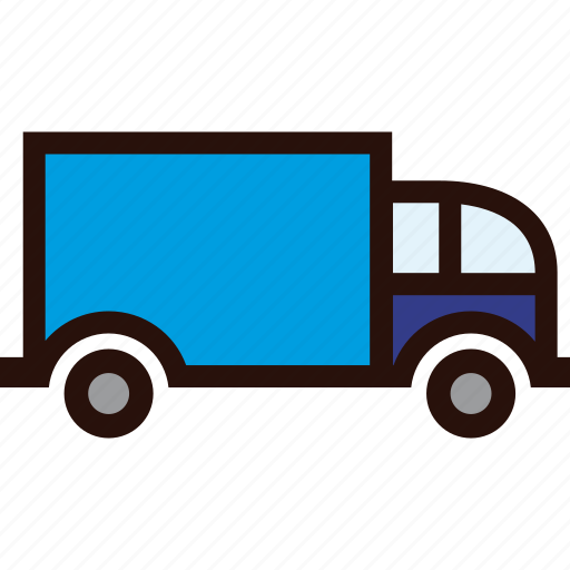 delivery, normal, packages, transport, transportation, truck icon