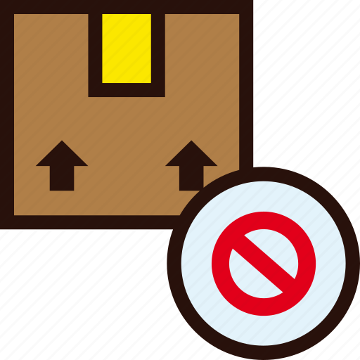 box, delivery, forbidden, package, prohibited icon