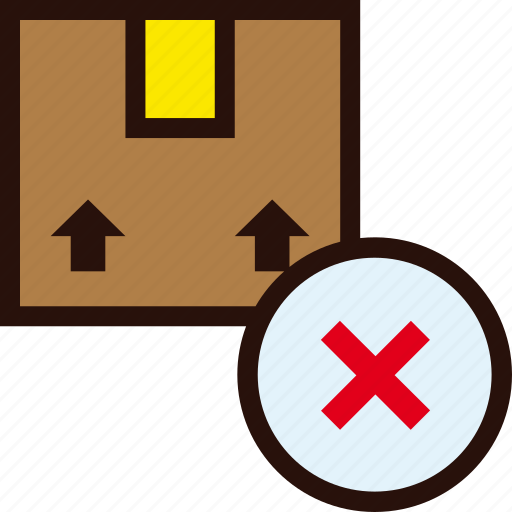 box, delete, delivery, package, unavailable icon