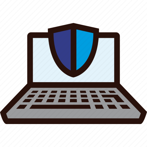 Laptop, online, payment, secure, shield icon - Download on Iconfinder