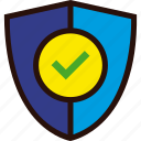 antivirus, ok, protect, secure, security, shield, tick icon