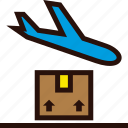 airplane, arrived, order, package, plane, shipping icon