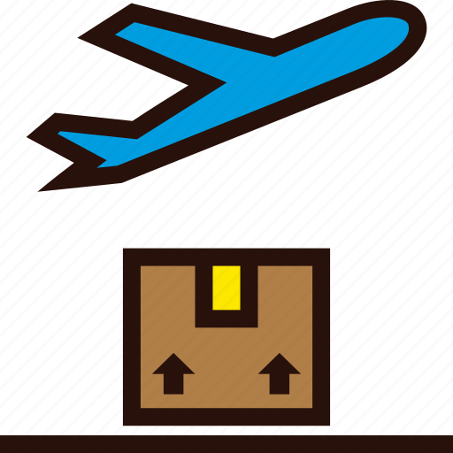 airplane, depart, order, package, plane, shipping icon