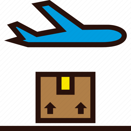 airplane, order, plane, shipping, transit icon