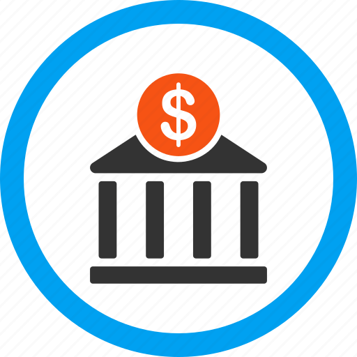 Bank building, company, dollar, finance, financial center, money, payment icon - Download on Iconfinder