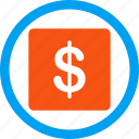 bank, banking, dollar, economy, finance, financial business, money icon