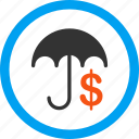 business, finance, financial insurance, money, protection, safety, umbrella icon