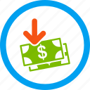 business, finance, gain, income, money, payment, profit icon