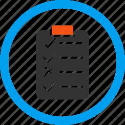 accessory, checklist, item list, items, task list, tasks, text icon