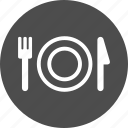 breakfast, crockery, dinner, dinnerware, food, restaraunt, restaurant, supper, tableware, utensil icon