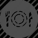 breakfast, crockery, dinner, dinnerware, food, restaraunt, restaurant, supper, tableware, utensil icon