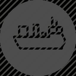 boat, cargo, cargo ship, cruise ship, delivery, logistics, sea, ship icon